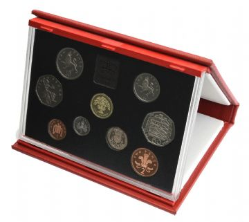 1992 Proof Set Red leather deluxe